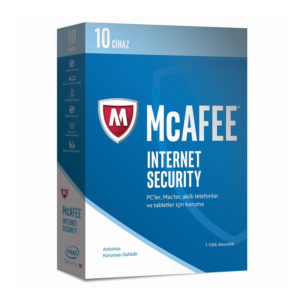 McAfee Intel Internet Security 2017 10 Cihaz